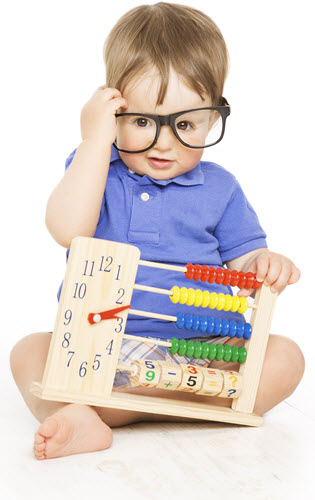 Picture of a Boy with an Abacus.
