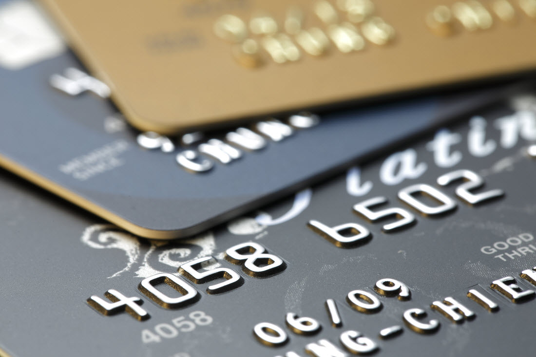 Close Up Picture of Credit Cards.